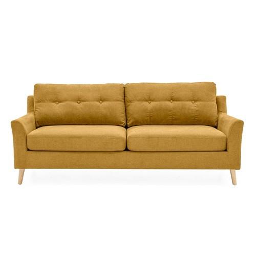 Vida Living Furniture Olten Citrus Yellow Fabric 3 Seater Sofa