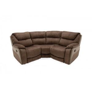 Vida Living Furniture Santiago Brown Fabric Corner Sofa Group
