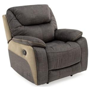Vida Living Furniture Santiago Grey Fabric 1 Seater Recliner Chair
