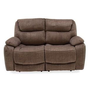 Vida Living Furniture Santiago Brown Fabric 2 Seater Recliner Sofa