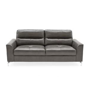 Vida Living Furniture Tanaro Grey Leather 3 Seater Sofa