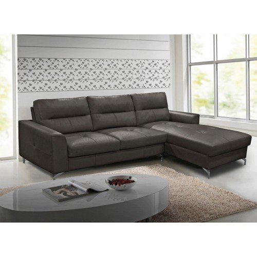 Vida Living Furniture Tanaro Grey Leather Right Hand Corner Sofa Group