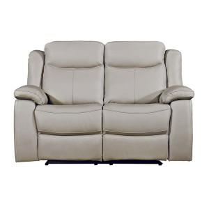 Vida Living Furniture Torretta Light Grey Leather Recliner 2 Seater Sofa