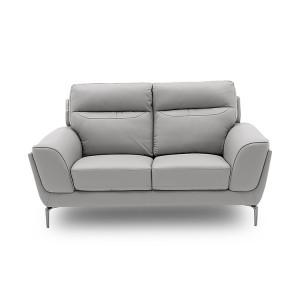 Vida Living Furniture Vitalia Light Grey Leather 2 Seater Sofa