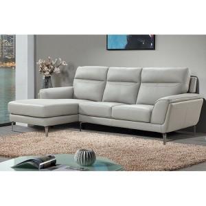 Vida Living Furniture Vitalia Light Grey Leather Left Hand Corner Sofa Group