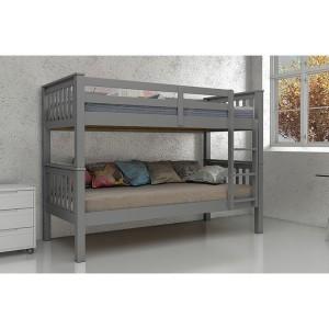 Vida Living Magnus Grey Painted Furniture Single 3ft Bunk Bed