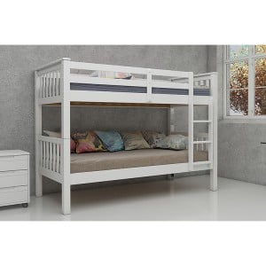 Vida Living Magnus White Painted Furniture Single 3ft Bunk Bed