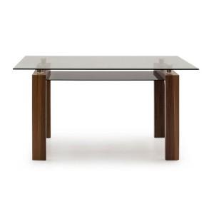 Vida Living Maya Walnut & Glass Furniture 150cm Dining Table