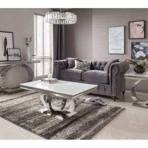 Vida Living Orion Chrome & Glass Living Room Furniture Set