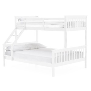Vida Living Salix White Painted Furniture Single 3ft and Double 4ft6 Bunk Bed