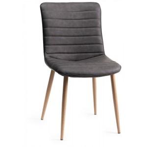 Bentley Designs Eriksen Grey Velvet Fabric Chairs