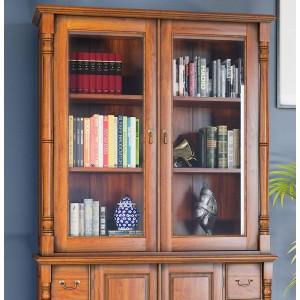 La Reine Mahogany Furniture Light Brown Dresser Top (Hutch)