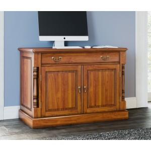 La Reine Mahogany Furniture Light Brown Hidden Home Office Desk