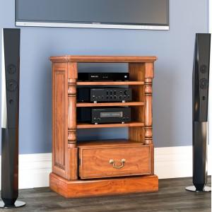 La Reine Mahogany Furniture Light Brown Entertainment Cabinet (Ancillaries)