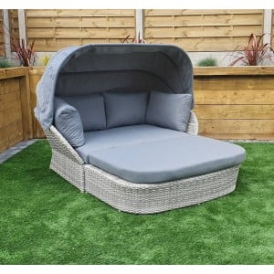 Signature Weave Garden Furniture Meghan Grey Rattan Day Bed