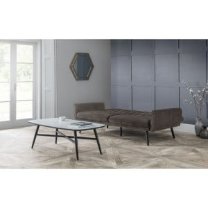 Julian Bowen Furniture Afina Grey Velvet Sofabed