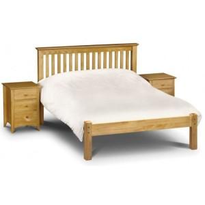 Julian Bowen Furniture Barcelona Pine High Footend 135cm Bed with Capsule Orthopaedic Mattress Set