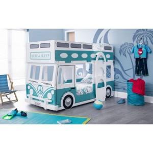 Julian bowen Painted Furniture Campervan Bunk Bed with 2 premier Mattress