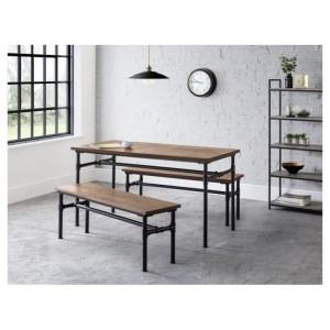 Julian bowen furniture Carnegie Dining Table and Carnegie Bench Set