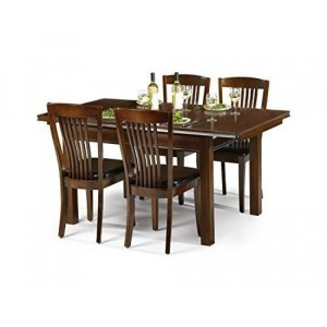 Julian Bowen Furniture Mahogany Canterbury Dining Table with 4 chair