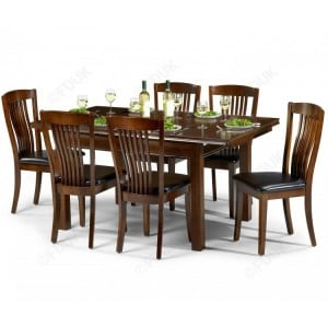 Julian Bowen Furniture Mahogany Canterbury Dining Table with 6 chair