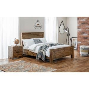 Julian Bowen Furniture Hoxton 4ft Double Bed with Capsule Elite Pocket Mattress