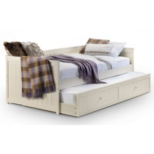 Julian Bowen Furniture Jessica Off-White Daybed and Underbed Trundle
