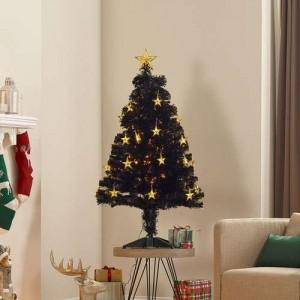 4ft Midnight Star Fibre Optic Artificial Christmas Tree