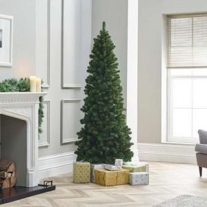 7ft Natural Green Slim Balsam Fir Artificial Christmas Tree