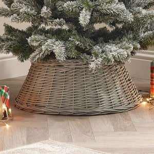 60cm Grey Willow Round Christmas Tree Ring