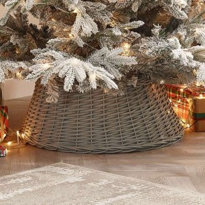 70cm Grey Willow Round Christmas Tree Ring