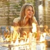 Nova Garden Ruxley Grey Weave 6 Seat Rectangular Fire Pit Dining Set