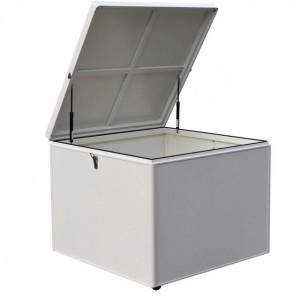 Nova Garden Furniture White Frame Small Aluminium Storage Box