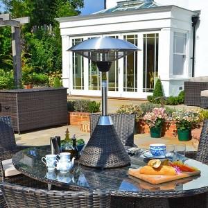 Nova Outdoor Living 2100w Brown Rattan Table Top Patio Heater