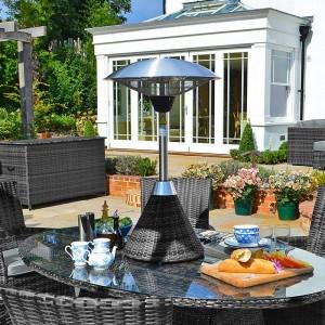 Nova Outdoor Living 2100w Grey Rattan Table Top Patio Heater