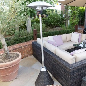 Nova Outdoor Living 2100w Brown Rattan Free Standing Parasol Patio Heater