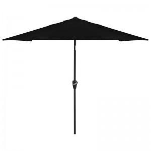 Nova Garden Furniture Antigua Black 2.4m Round Aluminium Table Parasol