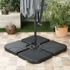 Nova Garden Furniture 80kg Sand & Water Fillable Slabs Cantilever Parasol Base