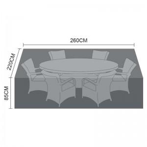 Nova Garden Furniture Black 6 Seat Oval Dining Set Cover