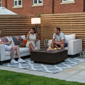 Nova Garden Furniture Albany Square Gas Firepit Coffee Table - PRE ORDER