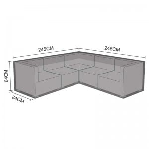 Nova Garden Furniture Chelsea Black Corner Sofa Set Cover