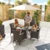 Nova Garden Furniture Amelia Brown Weave 4 Seat Round Dining Set