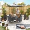 Nova Garden Furniture Amelia Grey Weave 4 Seat Round Dining Set