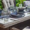 Nova Garden Furniture Thalia Slate Grey Rattan 8 Seat Rectangular Dining Set