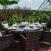 Nova Garden Furniture Amelia Brown Weave 6 Seat Oval Dining Set