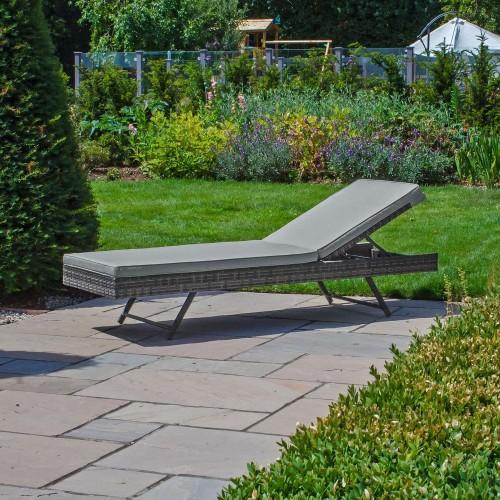 Nova Garden Furniture Eva Grey Weave Folding Sun Lounger