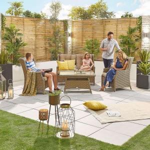 Nova Garden Furniture Thalia Willow Rattan 2 Seater Sofa Set
