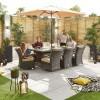 Nova Garden Furniture Olivia Brown Weave 8 Seat Rectangular Dining Set