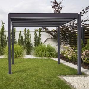 Nova Garden Furniture Proteus Grey 3m Square Aluminium Pergola