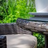 Nova Garden Furniture Amelia Brown Weave 2 Seat Bistro Set